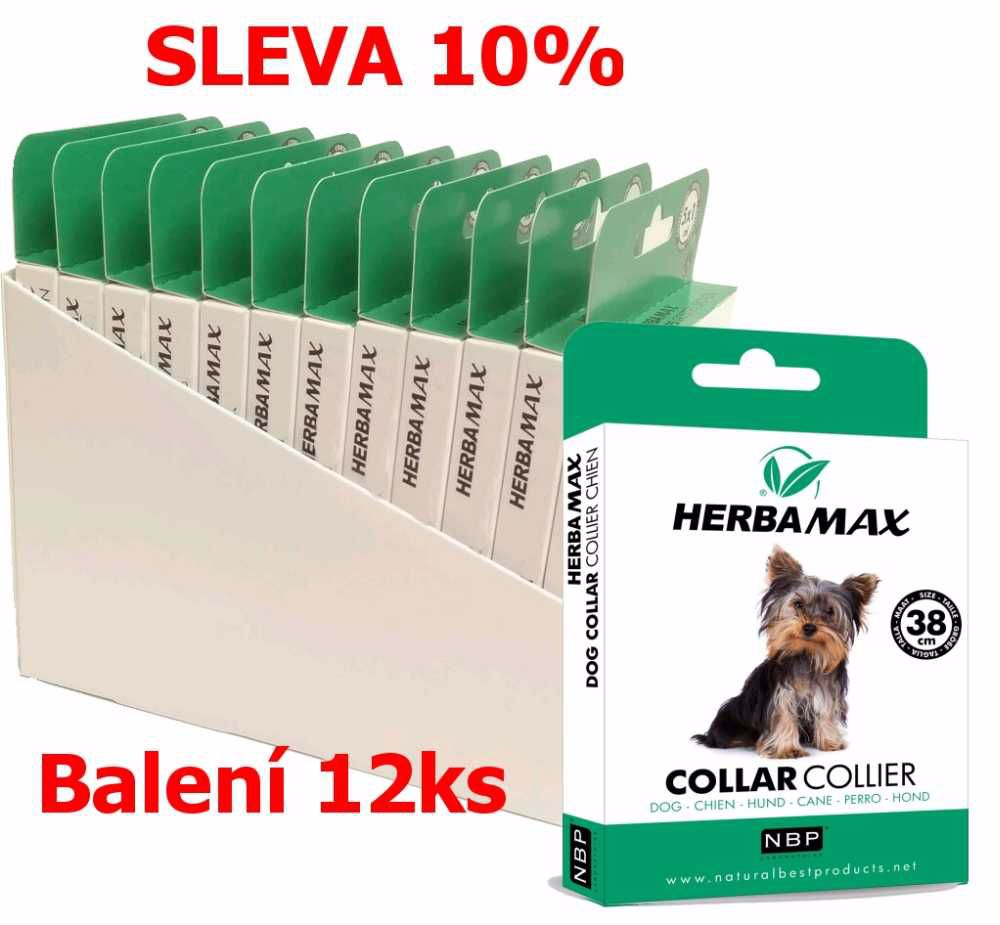 Herba Max Dog collar 38cm antipar. obojek-12KS-13510