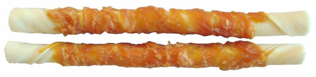 Buvolí tyč obalená kuřecím masem JUKO Exclusive Snacks 25,5 cm (2 ks)