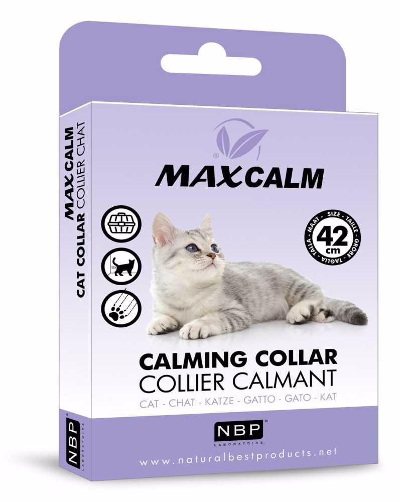Max Calm Collar Cat zklidňující obojek proti stresu, kočka