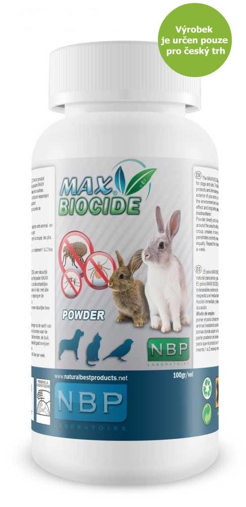 Max Biocide Rabbit Powder antiparazitní pudr, králík 100 g !CZ!