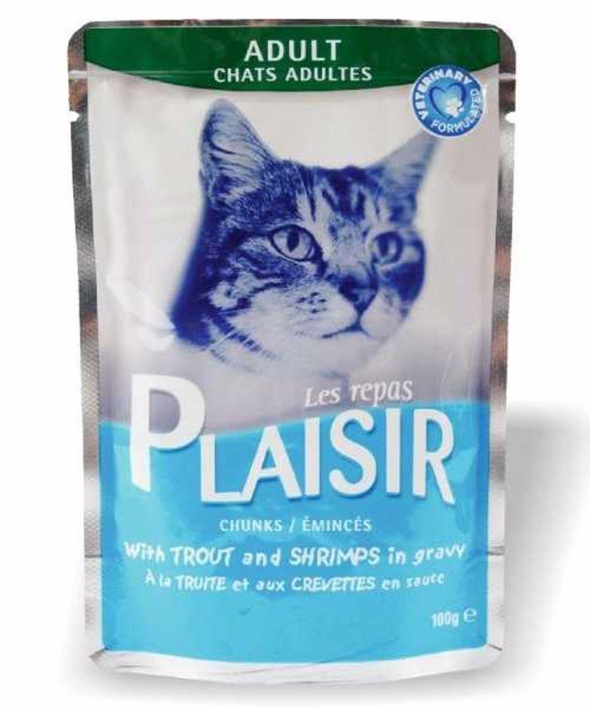 Plaisir Cat kapsička 100g pstruh+krevety-13668