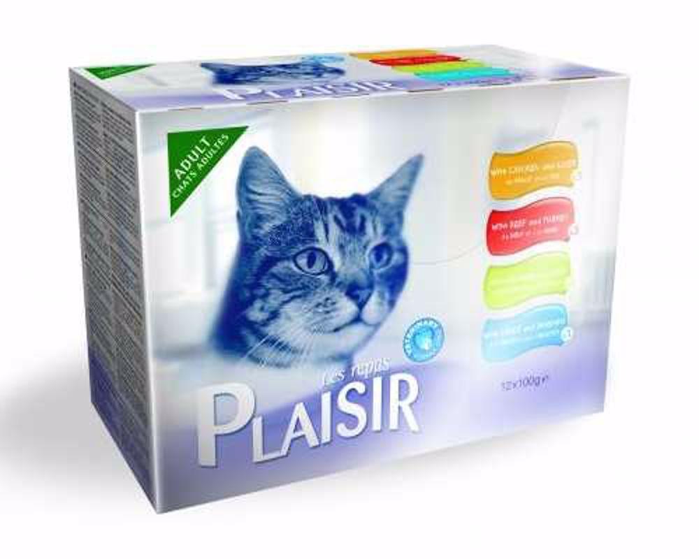 Plaisir Cat kapsičky MULTIPACK 12x100g-13673