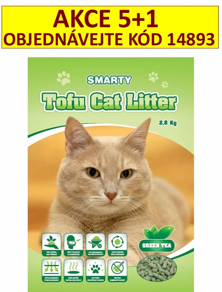 Smarty Tofu Cat Litter Green Tea podestýlka 6 l