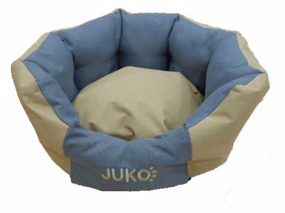 Pelíšek odolný JUKO koruna béžová XL 74x63x25 cm