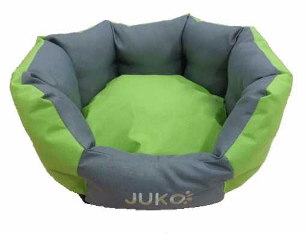 Pelíšek odolný JUKO koruna zelená XL 74x63x25 cm