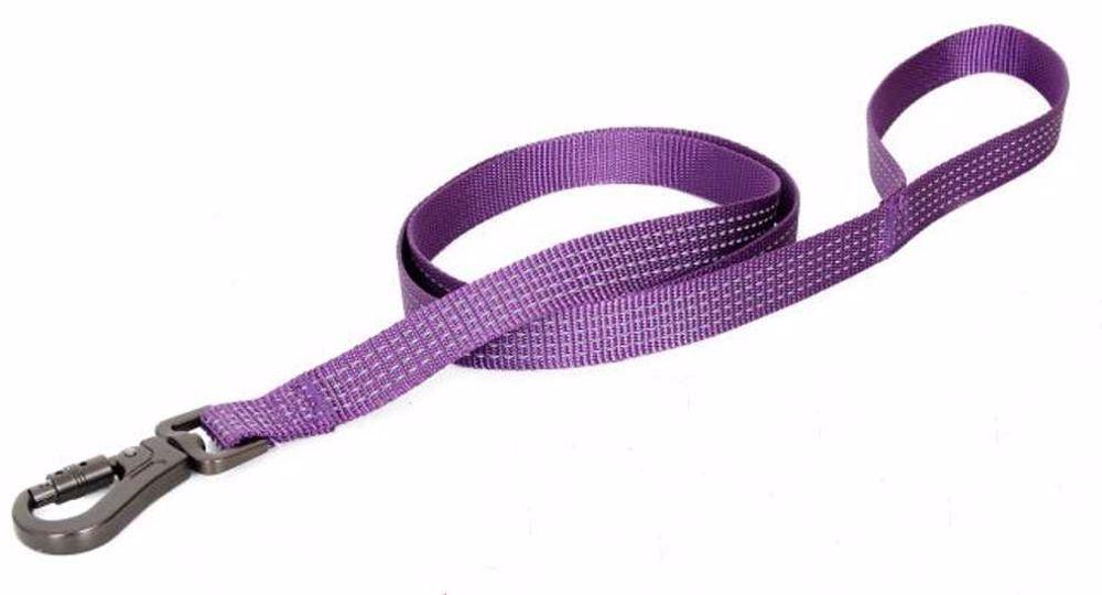 Vodítko popruhové reflexní fialová 2,5 x 120 cm