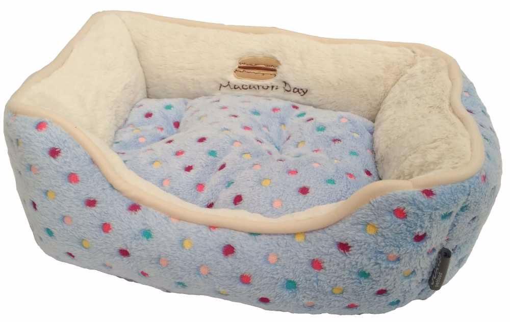 Pelíšek s puntíky Extra soft Bed XS 47cm-modrá-13860