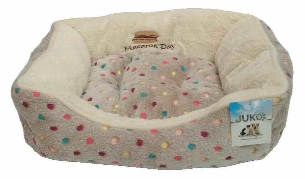 Pelíšek s puntíky Extra soft Bed XS 47cm-šedá-13861