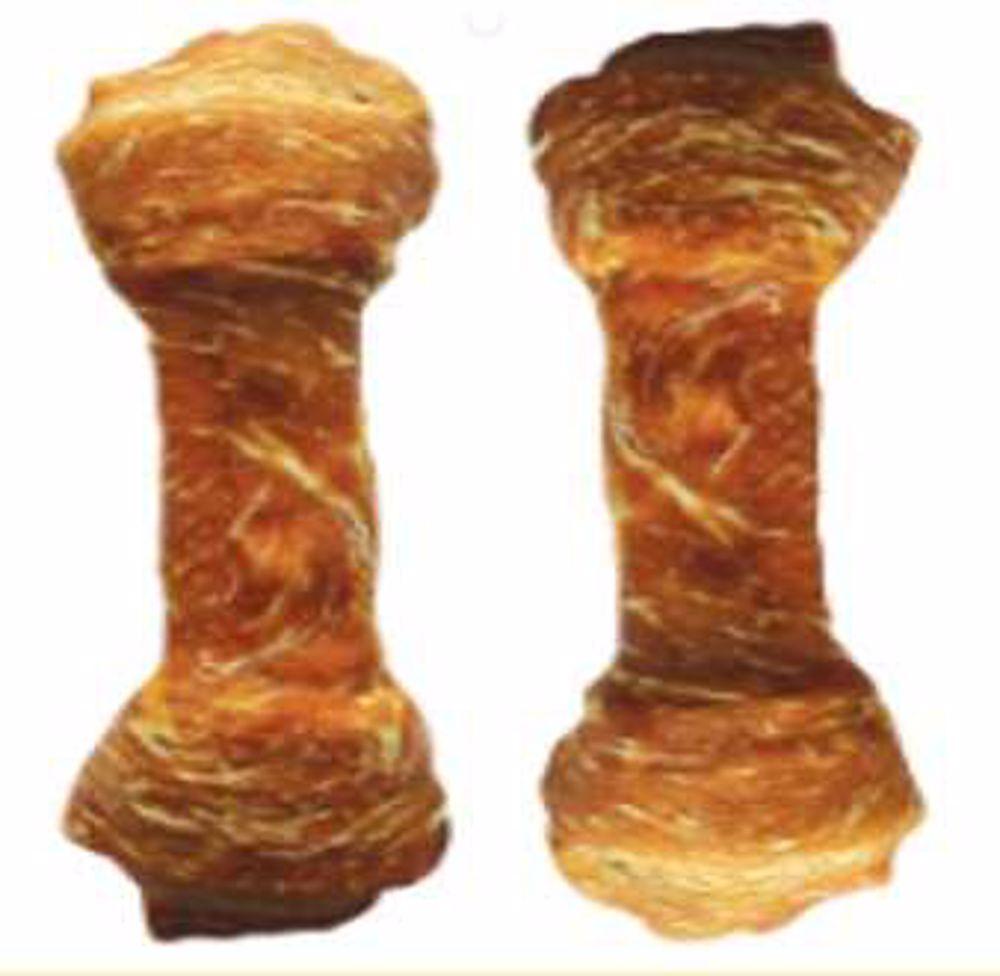 Buvolí uzel obalený kachním masem JUKO Exclusive Snacks 6,5 cm (15 ks)