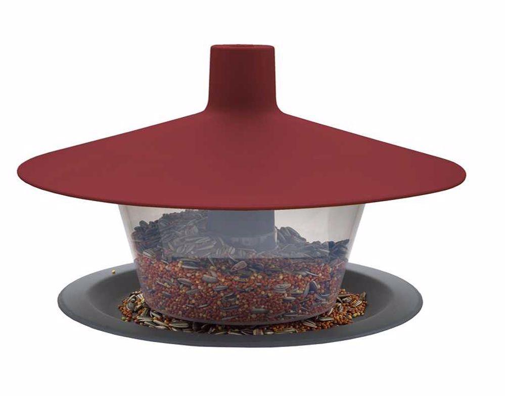 Krmítko Finch-Talíř venkovní plast-vínová-14000