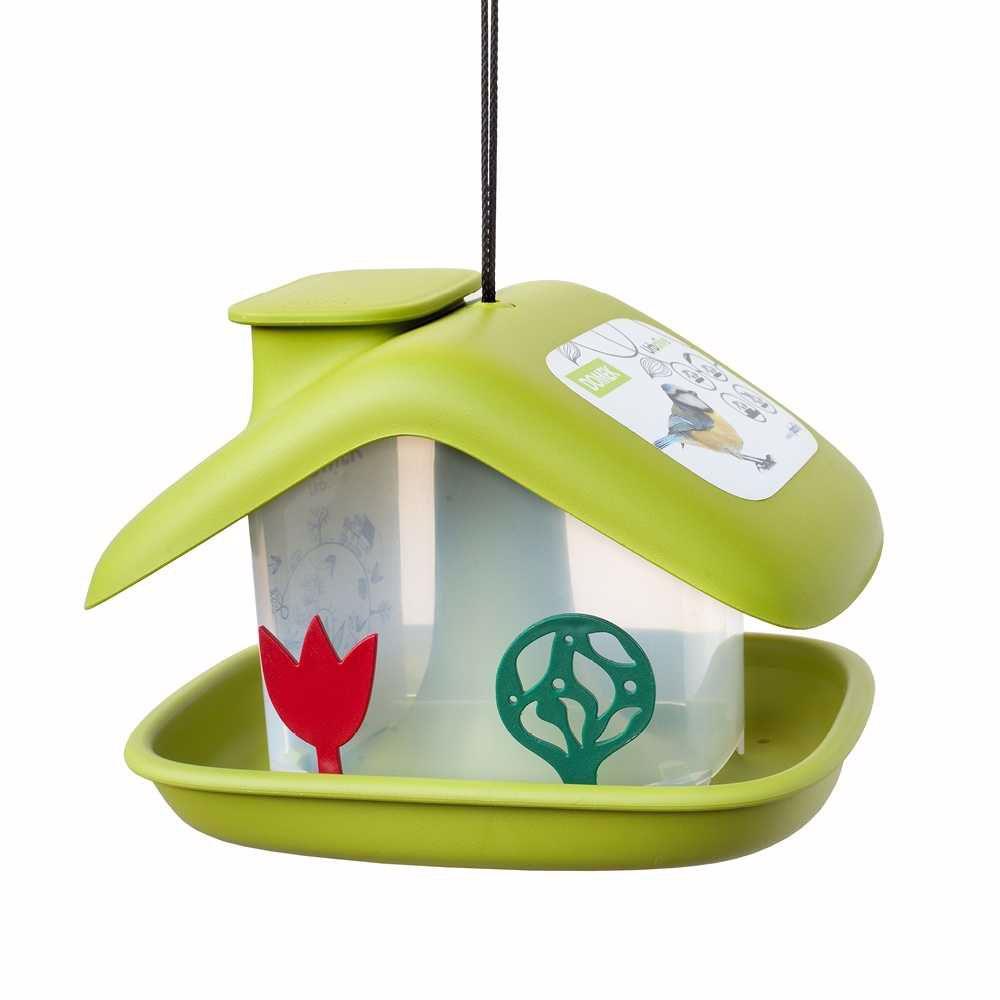 Krmítko Domek-Chalupa venkovní plast-zelená-14003