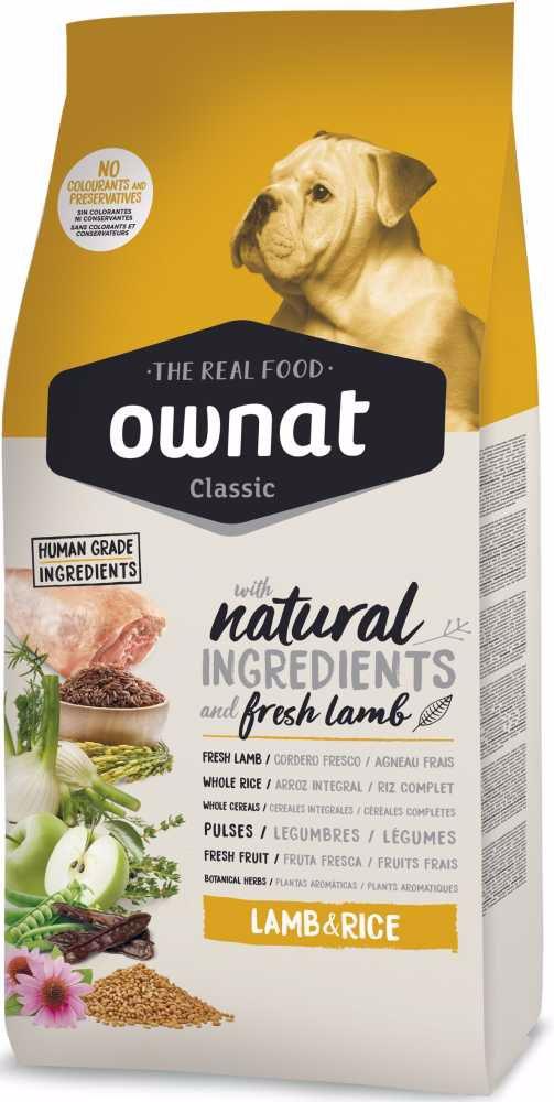 OWNAT Dog Classic Lamb & Rice 4 kg