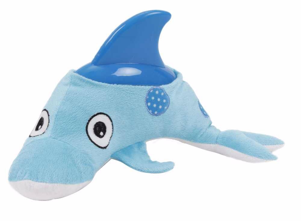 Plyšová hračka s gumou Delfín