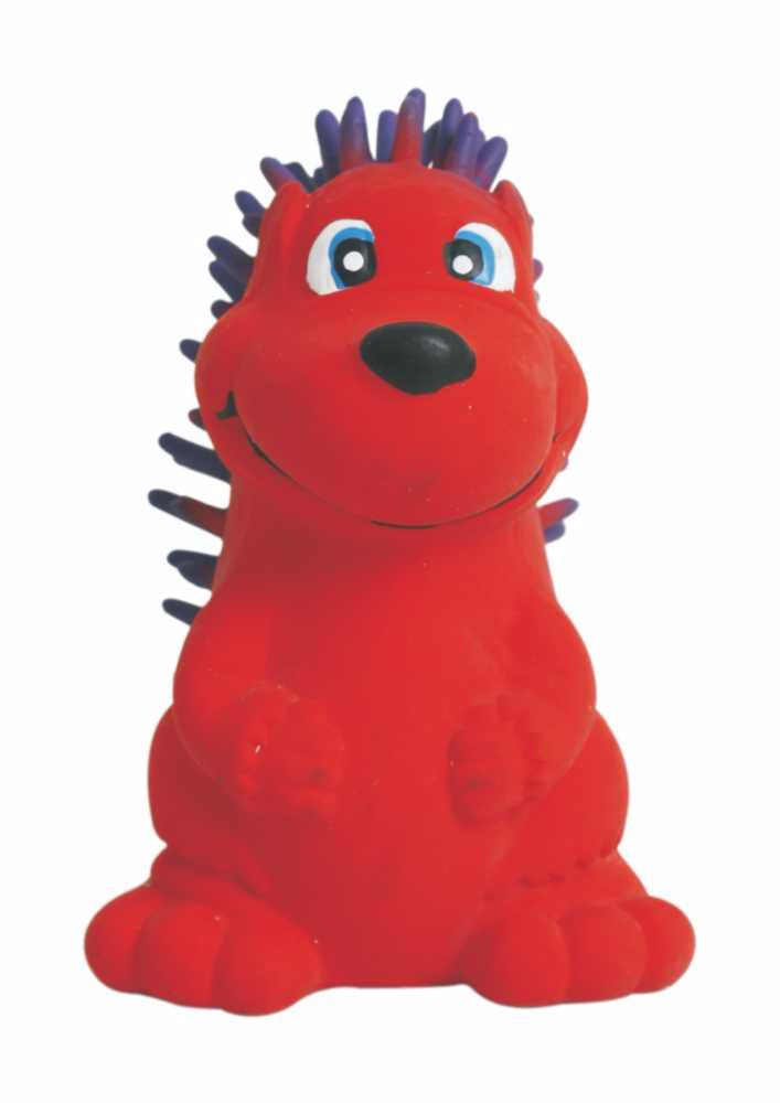 Latexová hračka s pískadlem-Červený ježek 7,5cm-14103