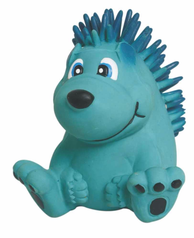 Latexová hračka s pískadlem-Modrý ježek 7,5cm-14104