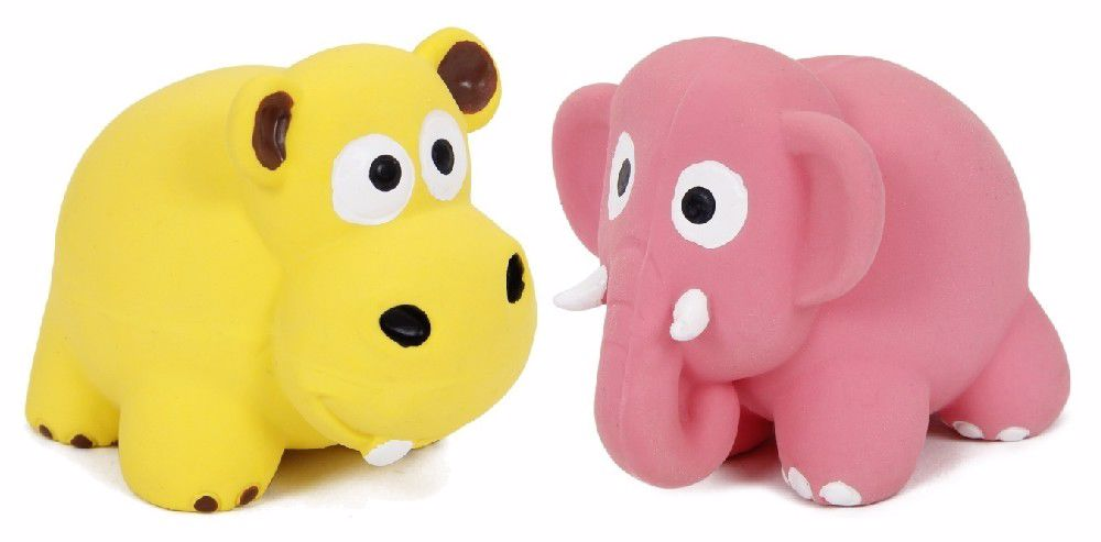 Latexová hračka s pískadlem-zvířata 8x6x6cm-14108