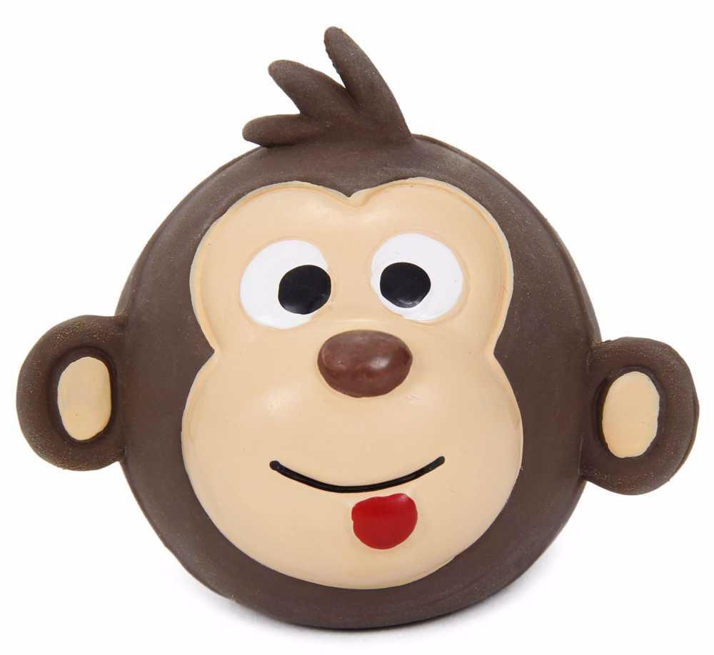 Latexová hračka s pískadlem-Opice,hlava 8x7x3cm-14109