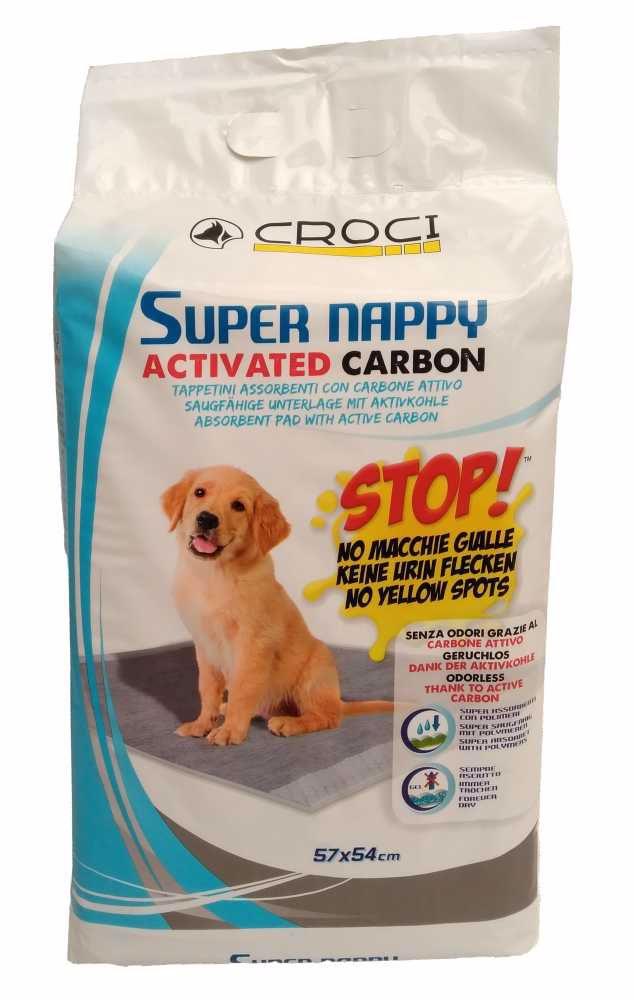 Návyková podložka Super Nappy Carbon 57 x 54 cm (30 ks)