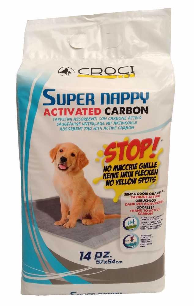 Návyková podložka Super Nappy Carbon 57 x 54 cm (14 ks)
