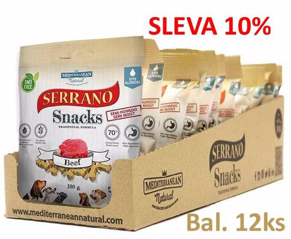Serrano Snack for Dog- Beef 100g-12ks-AKCE 10%-14574