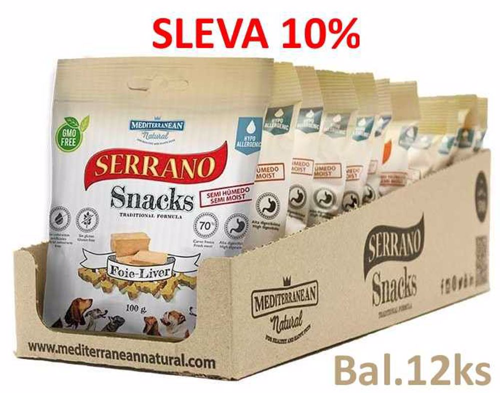 Serrano Snack for Dog Liver 100 g (12 ks) AKCE 10 %