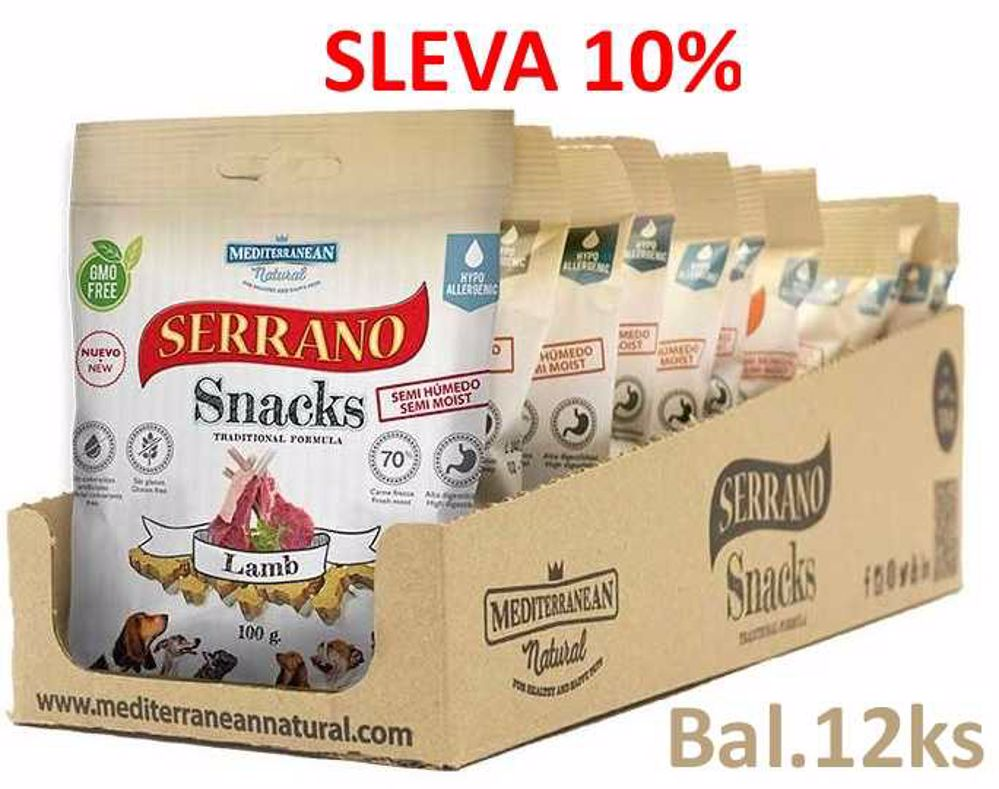 Serrano Snack for Dog Lamb 100 g (12 ks) AKCE 10 %