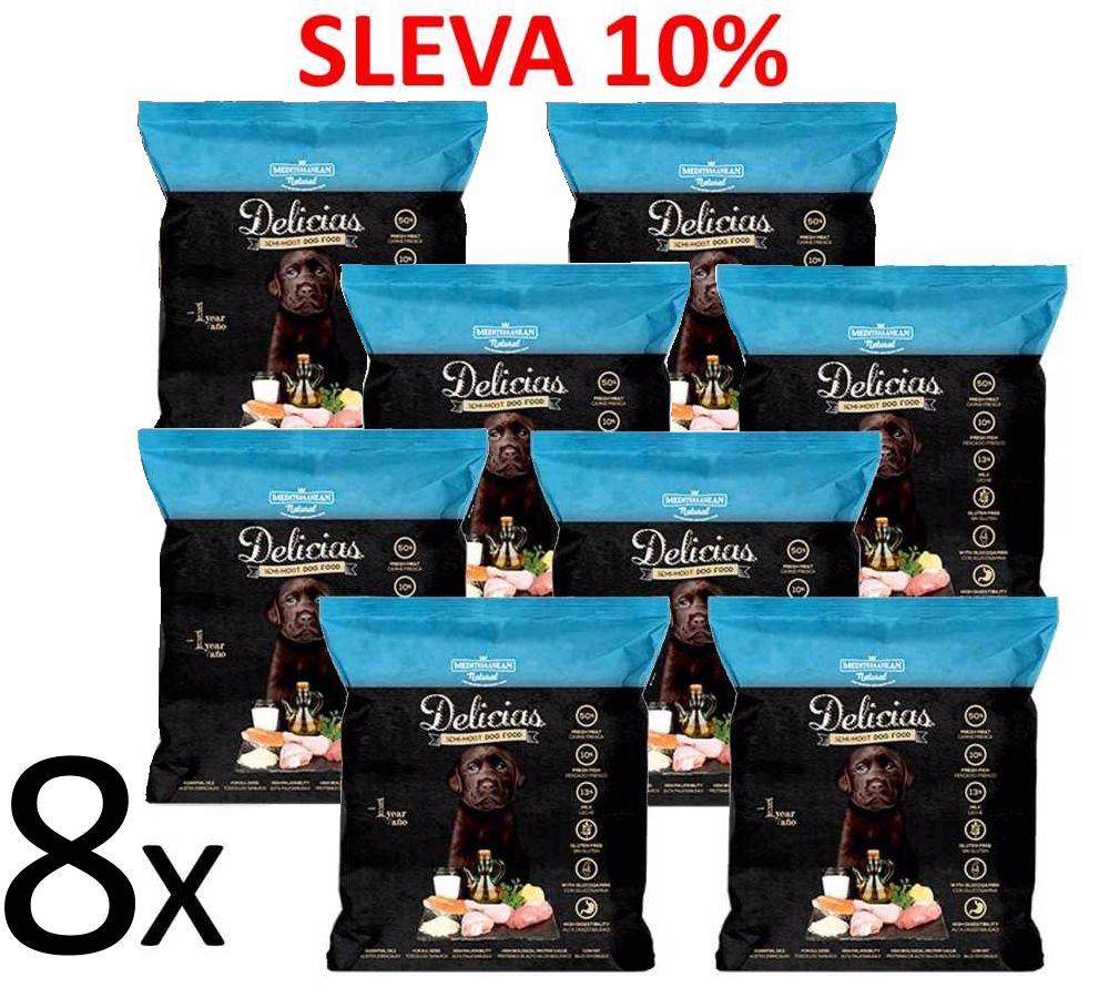 Delicias Puppy Adult Soft poloměkké krmivo 800 g (8 ks) AKCE 10%