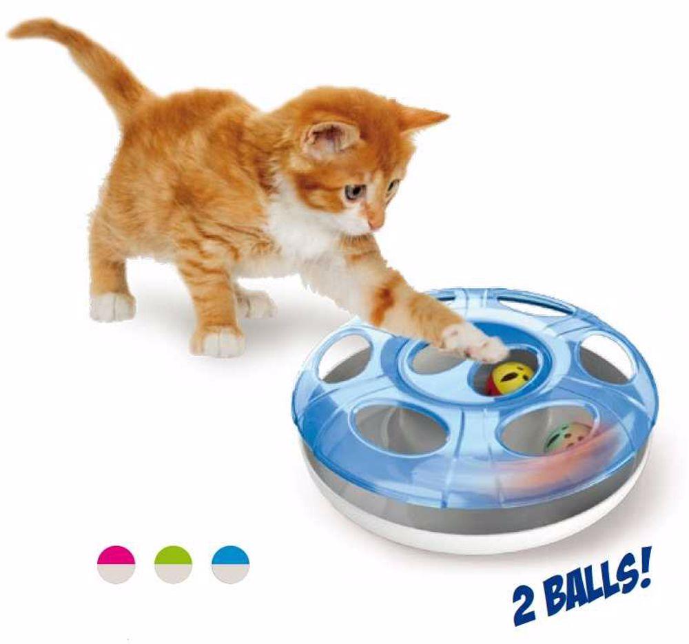Hračka pro kočky plastová UFO pr.25x8-Georgeplast-10605