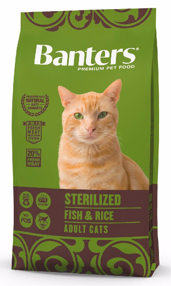 Banters Adult cat STERILIZED Fish with Rice 8kg-14668