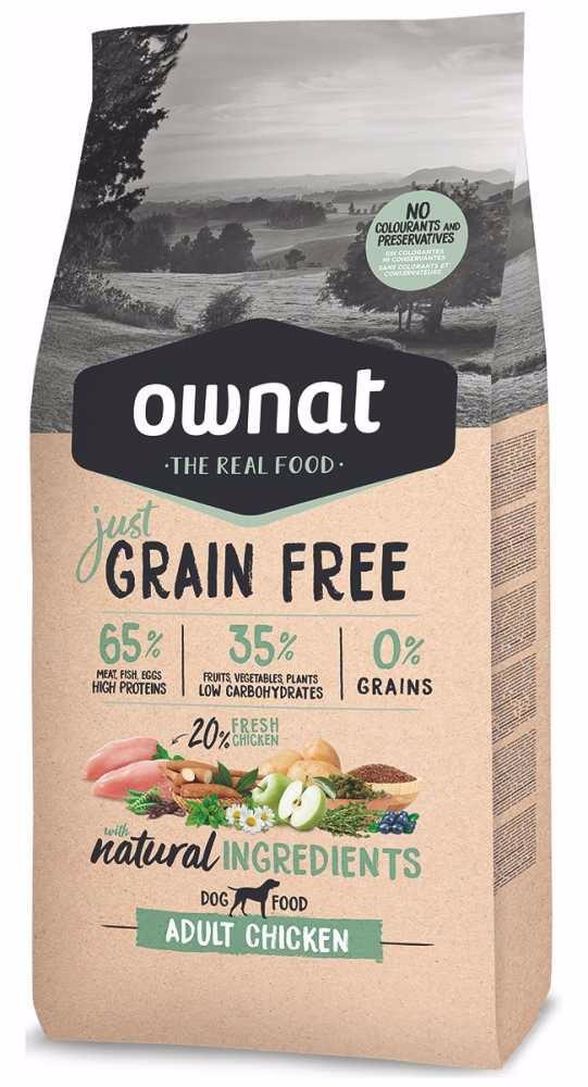 OWNAT Dog Just Grain Free Adult Chicken 14 kg