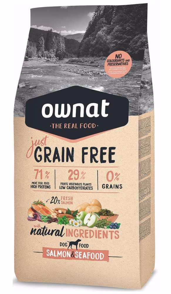 OWNAT Dog Just Grain Free Salmon & Seafood 3 kg