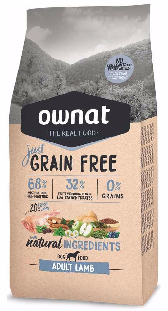 OWNAT Dog Just Grain Free Adult Lamb 3 kg
