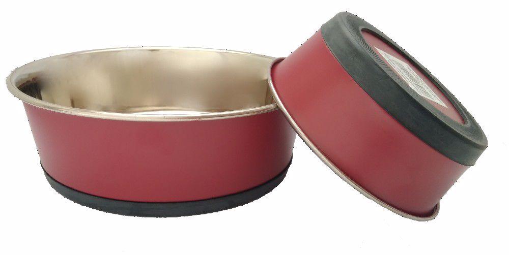 Miska TĚŽKÁ nerez barva SILIKON pásek 1,6l-14773