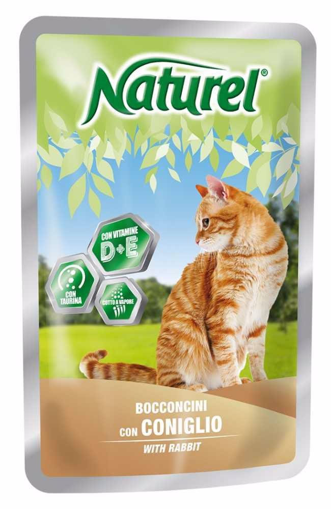 Naturel cat pouches RABBIT 100g-033042