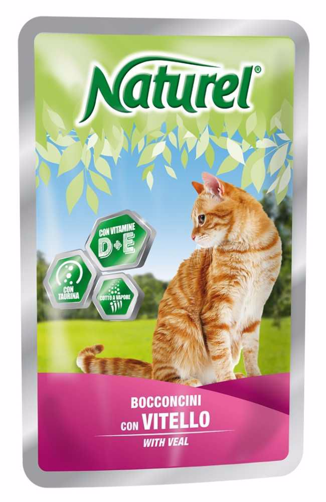 Naturel cat pouches VEAL 100g-033043
