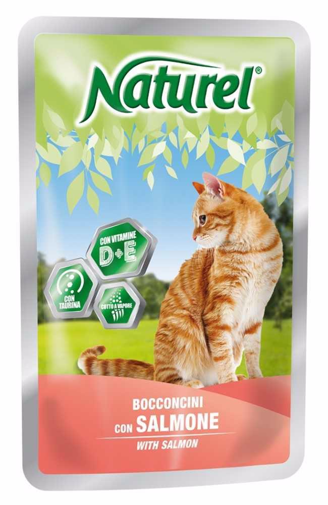 Naturel cat pouches SALMON 100g-033044