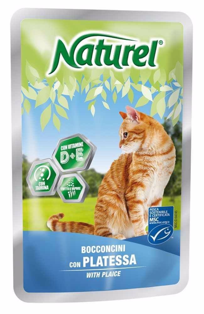 Naturel cat pouches PLAICE 100g-033045