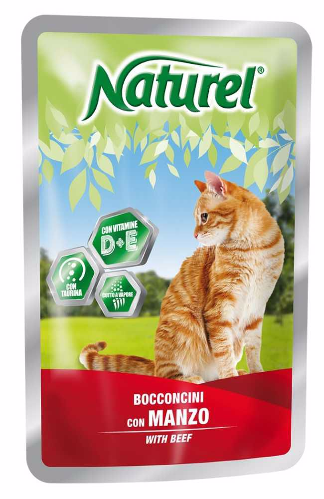 Naturel cat pouches BEEF 100g-033046