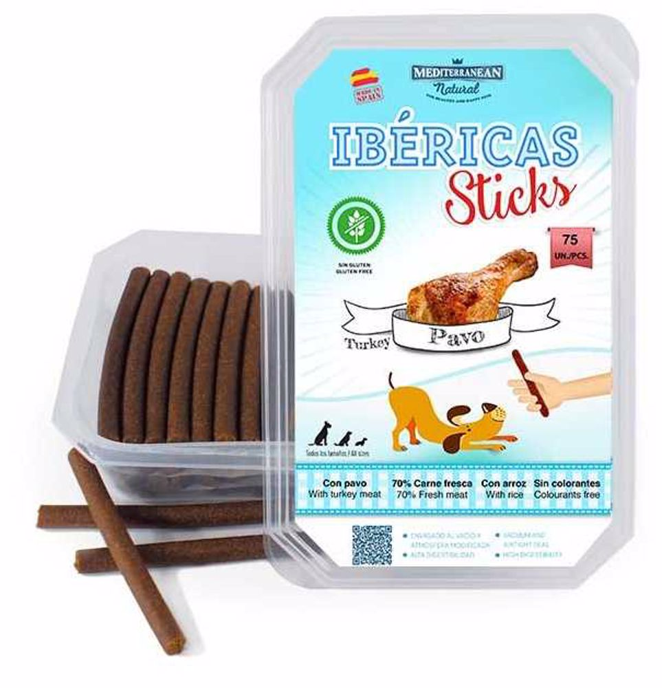 Ibéricas Sticks Turkey 900g 75ks snack for dog-14821