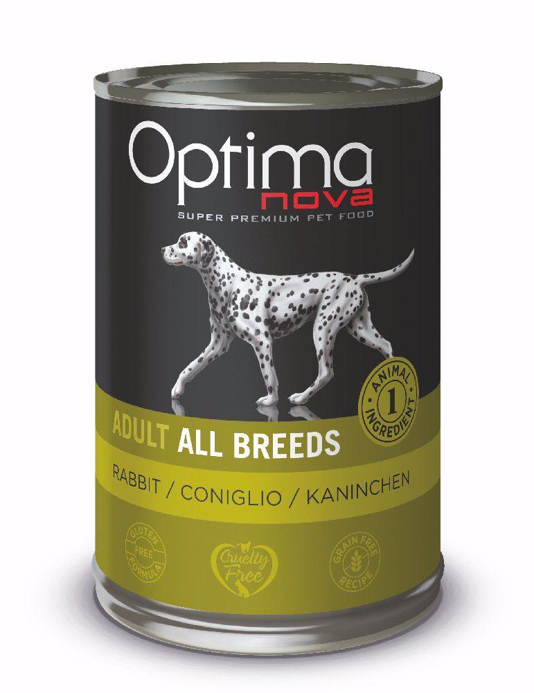 Optimanova Dog Rabbit Grain Free 400g