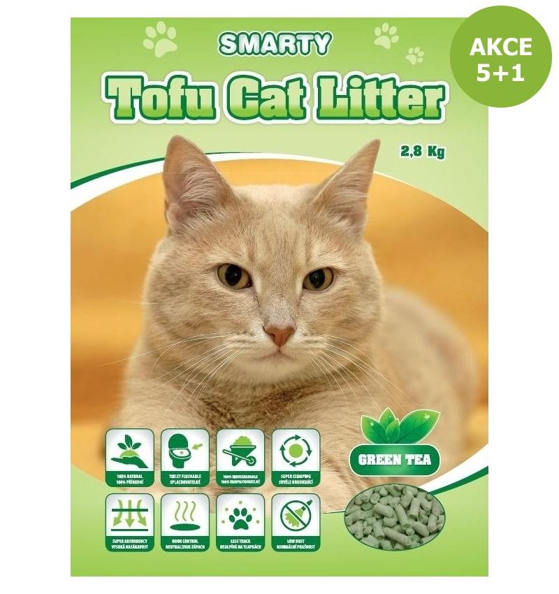 Smarty Tofu Cat Litter-Green Tea-podestýlka 6lt.-AKCE 5+1-14893