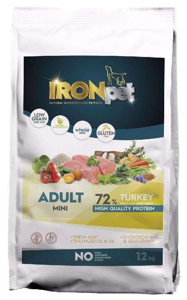 IRONpet Dog Adult Mini Turkey (Krůta) 12 kg