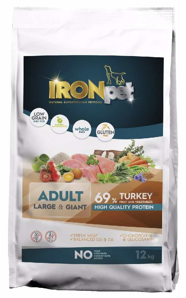 IRONpet TURKEY Large & Giant Adult 12kg-14965