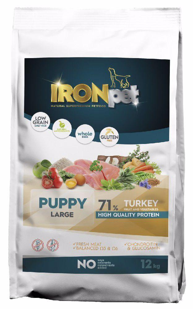IRONpet Dog Puppy Large Turkey (Krůta) 12 kg