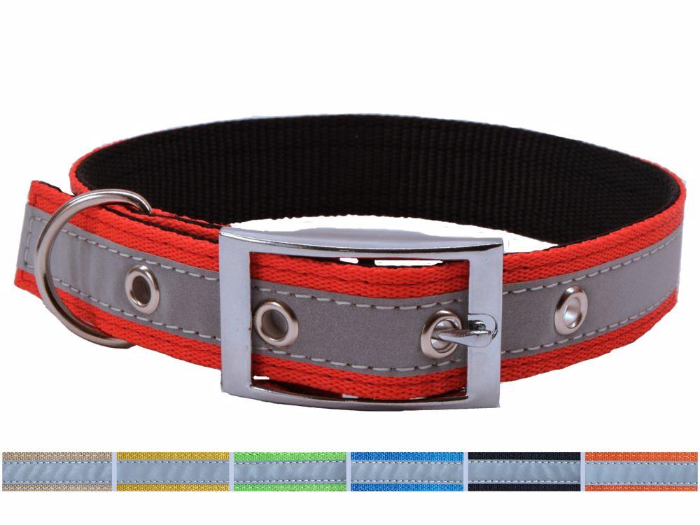 Obojek Popruh P25XGJ-25x45-55cm-barevný-REFLEXNÍ-16227
