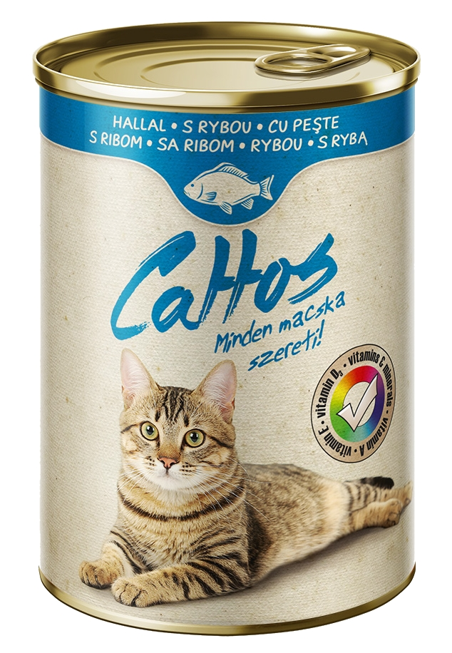 Cattos Cat with Fish 415g-15382