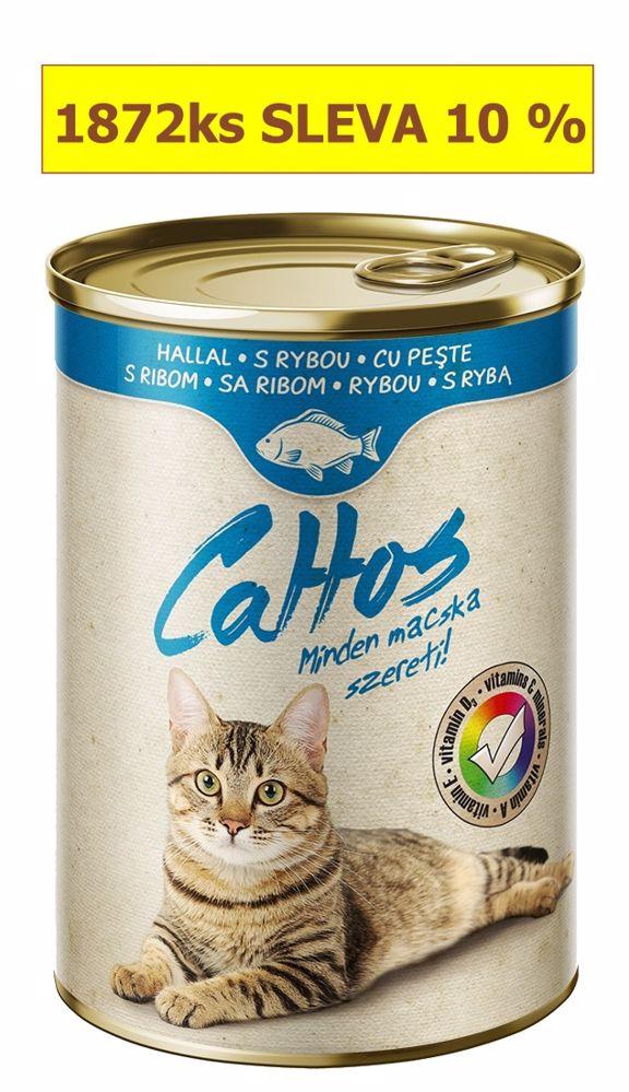Cattos Cat rybí, konzerva 415 g