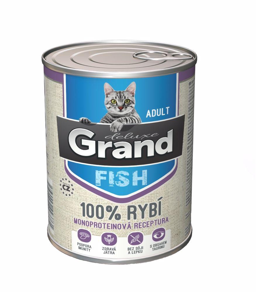 Grand deluxe 100% RYBÍ pro kočku 400g-15476