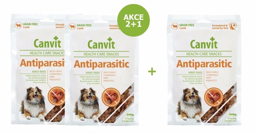 Canvit Snacks Anti-Parasitic 200g-AKCE 2+1 Zdarma