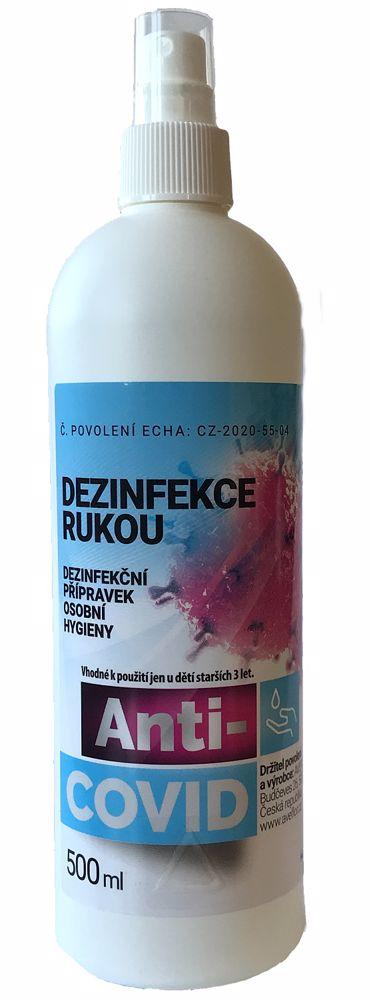 Anti-COVID desinfekce 500 ml, roztok s víčkem-!CZ!